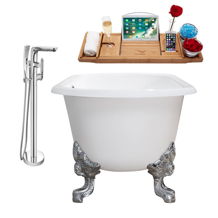 "Cast Iron Tub, Faucet and Tray Set 69"" RH5001CH-CH-120"