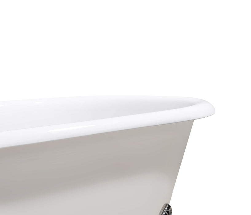 "Cast Iron Tub, Faucet and Tray Set 69"" RH5001GLD-GLD-120"