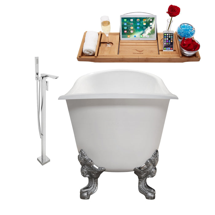"Cast Iron Tub, Faucet and Tray Set 72"" RH5020CH-GLD-140"