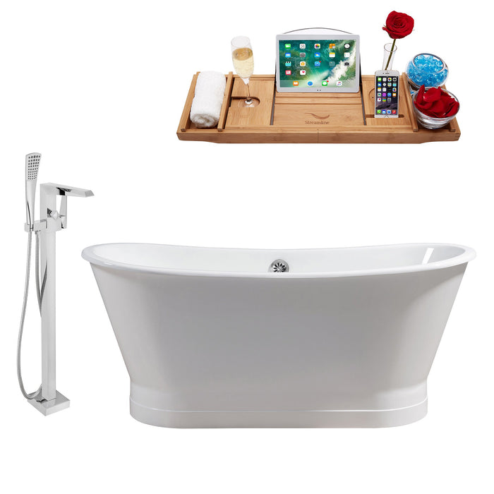 "Cast Iron Tub, Faucet and Tray Set 67"" RH5042CH-100"