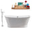 "Cast Iron Tub, Faucet and Tray Set 67"" RH5042CH-140"