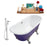 "Cast Iron Tub, Faucet and Tray Set 67"" RH5060CH-CH-100"