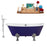 "Cast Iron Tub, Faucet and Tray Set 67"" RH5060CH-CH-140"