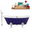 "Cast Iron Tub, Faucet and Tray Set 67"" RH5060WH-GLD-140"