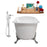 "Cast Iron Tub, Faucet and Tray Set 67"" RH5061CH-CH-100"