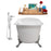 "Cast Iron Tub, Faucet and Tray Set 67"" RH5061CH-GLD-100"