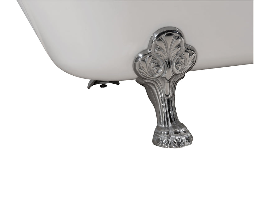 "Cast Iron Tub, Faucet and Tray Set 67"" RH5061CH-GLD-140"