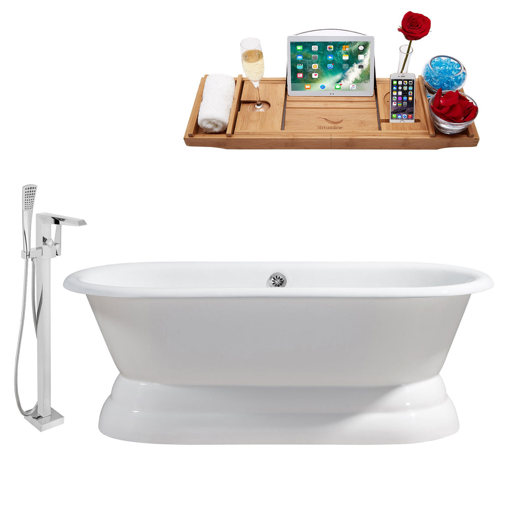 "Cast Iron Tub, Faucet and Tray Set 66"" RH5080CH-100"
