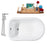 "Cast Iron Tub, Faucet and Tray Set 66"" RH5100CH-CH-120"