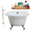 "Cast Iron Tub, Faucet and Tray Set 66"" RH5100CH-CH-140"