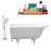 "Cast Iron Tub, Faucet and Tray Set 66"" RH5100WH-CH-100"