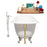 "Cast Iron Tub, Faucet and Tray Set 60"" RH5120CH-GLD-140"