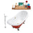 "Cast Iron Tub, Faucet and Tray Set 72"" RH5160CH-GLD-140"
