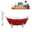 "Cast Iron Tub, Faucet and Tray Set 72"" RH5160WH-CH-100"