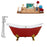 "Cast Iron Tub, Faucet and Tray Set 61"" RH5161GLD-GLD-120"