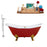 "Cast Iron Tub, Faucet and Tray Set 61"" RH5161GLD-GLD-140"