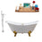 "Cast Iron Tub, Faucet and Tray Set 72"" RH5162GLD-GLD-140"
