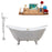 "Cast Iron Tub, Faucet and Tray Set 72"" RH5162WH-GLD-140"