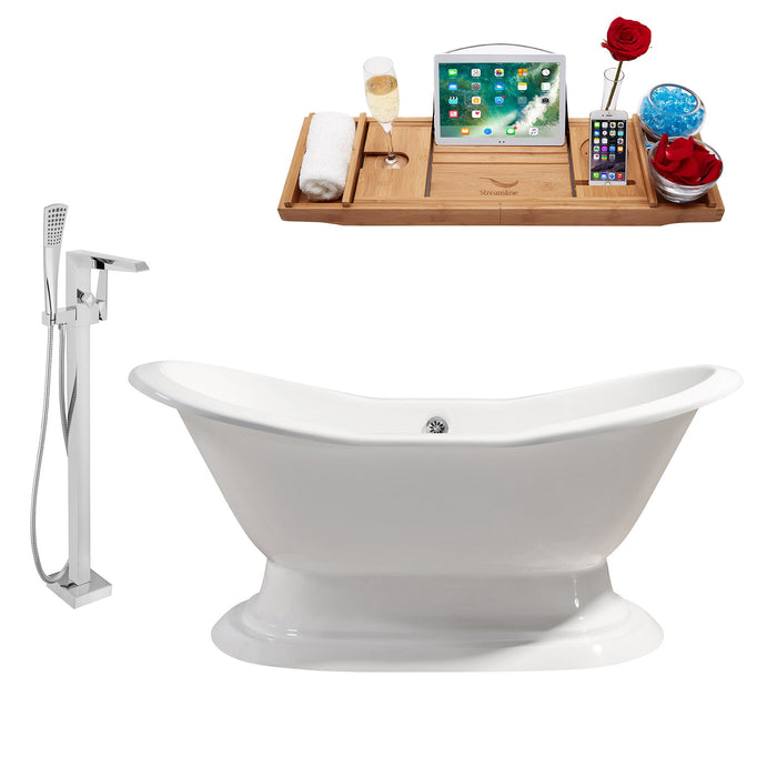 "Cast Iron Tub, Faucet and Tray Set 72"" RH5200CH-100"