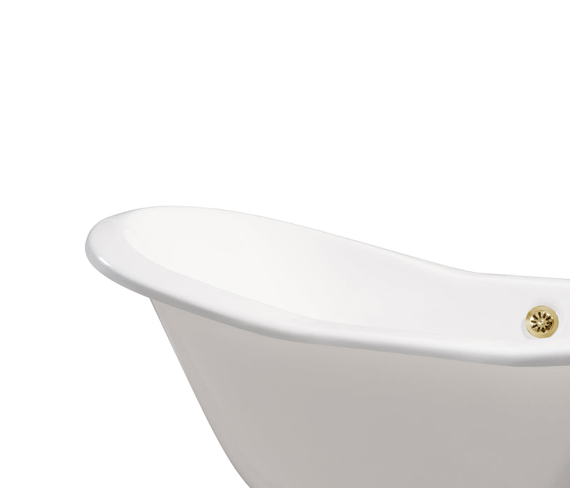 "Cast Iron Tub, Faucet and Tray Set 72"" RH5200GLD-120"