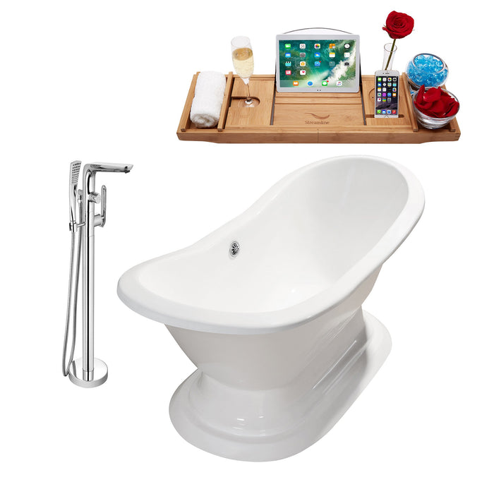 "Cast Iron Tub, Faucet and Tray Set 61"" RH5201CH-120"