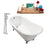 "Cast Iron Tub, Faucet and Tray Set 67"" RH5220CH-CH-120"