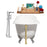 "Cast Iron Tub, Faucet and Tray Set 61"" RH5221CH-GLD-120"