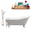 "Cast Iron Tub, Faucet and Tray Set 61"" RH5221WH-CH-100"