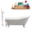 "Cast Iron Tub, Faucet and Tray Set 61"" RH5221WH-CH-140"