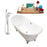 "Cast Iron Tub, Faucet and Tray Set 71"" RH5240CH-CH-100"