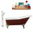"Cast Iron Tub, Faucet and Tray Set 66"" RH5280CH-GLD-100"