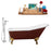 "Cast Iron Tub, Faucet and Tray Set 66"" RH5280GLD-CH-100"