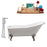 "Cast Iron Tub, Faucet and Tray Set 66"" RH5281CH-CH-120"