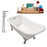 "Cast Iron Tub, Faucet and Tray Set 66"" RH5281CH-GLD-120"
