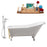 "Cast Iron Tub, Faucet and Tray Set 66"" RH5281WH-GLD-100"
