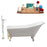 "Cast Iron Tub, Faucet and Tray Set 66"" RH5281WH-GLD-140"
