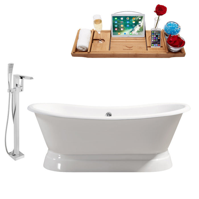 "Cast Iron Tub, Faucet and Tray Set 71"" RH5300CH-100"