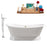 "Cast Iron Tub, Faucet and Tray Set 71"" RH5300GLD-140"