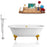 Tub, Faucet, and Tray Set Streamline 60'' Clawfoot RH5500GLD-GLD-140