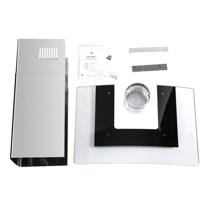 30'' Streamline S-100MSH-30 Convertible Wall Mount Kitchen Range Hood