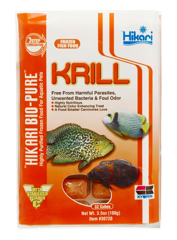 Hikari - BioPure Frozen Krill Fish Food Cube Pack 3.5oz