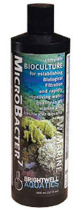 Brightwell Aquatics - MicroBacter7 - Complete Bioculture for Marine and FW Aquaria 250mL / 8.5oz