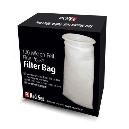100 Micron Felt Fine Polish Filter Bag - Red Sea