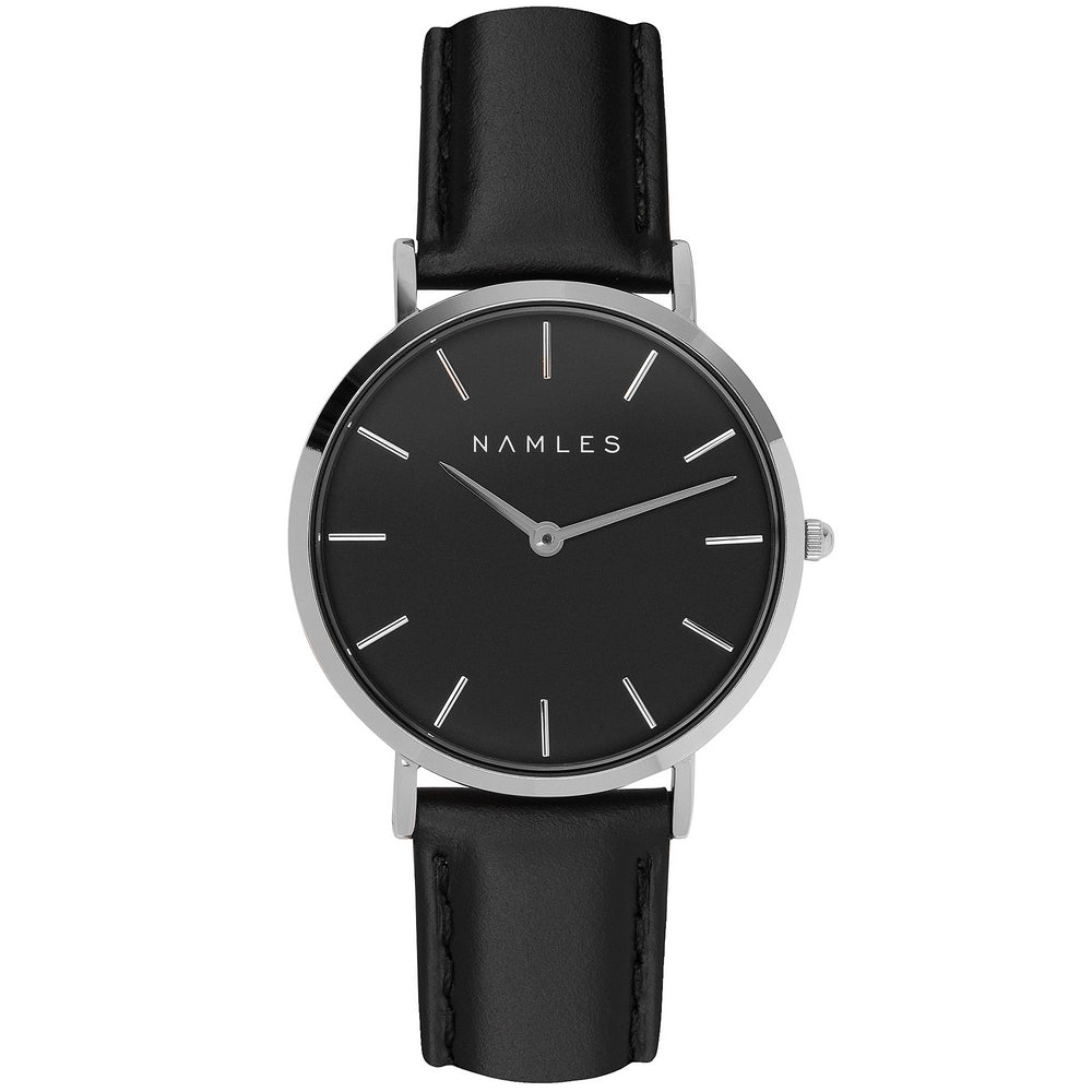 Leather Black / Black Dial