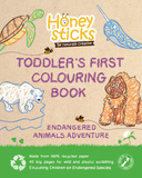 Toddlers First Colouring Book - An Endangered Animals Adventure