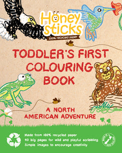 Toddlers First Colouring Book - A North American Adventure