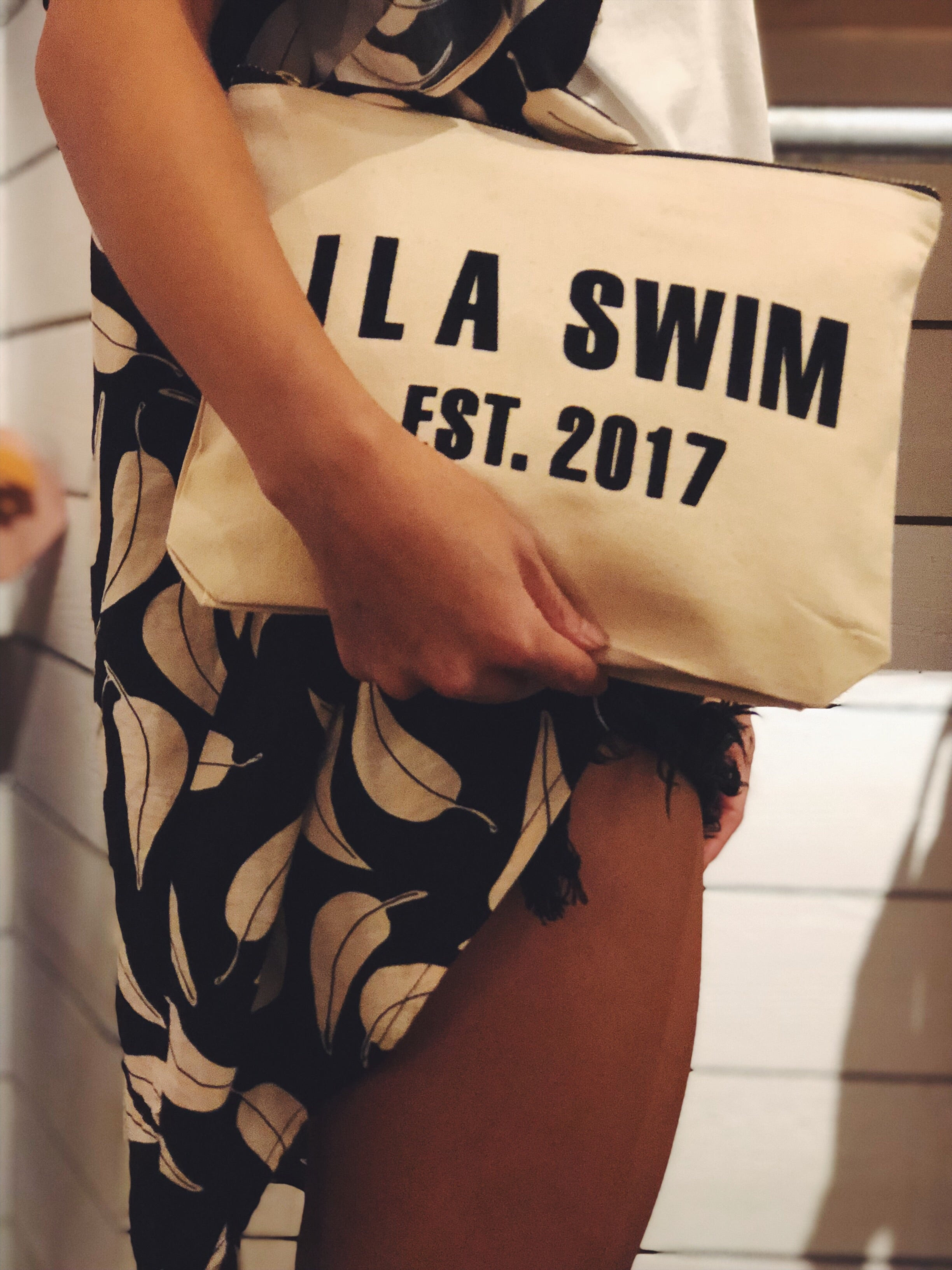 ILA SWIM Canvas Clutch