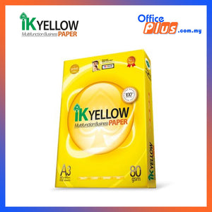 IK YELLOW A4 COPIER PAPER 80GSM - 500 SHEETS (RM10.50 - RM12.00)