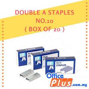 DOUBLE A STAPLES NO. 10 - BOX OF 20s - OfficePlus