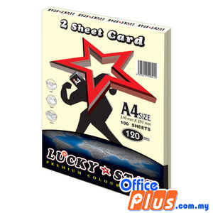 Lucky Star A4 2 Sheet Card CS100 Ivory 120gsm - 100 sheets - OfficePlus